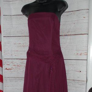 Jordan Merlot Formal Dress with Sparkles